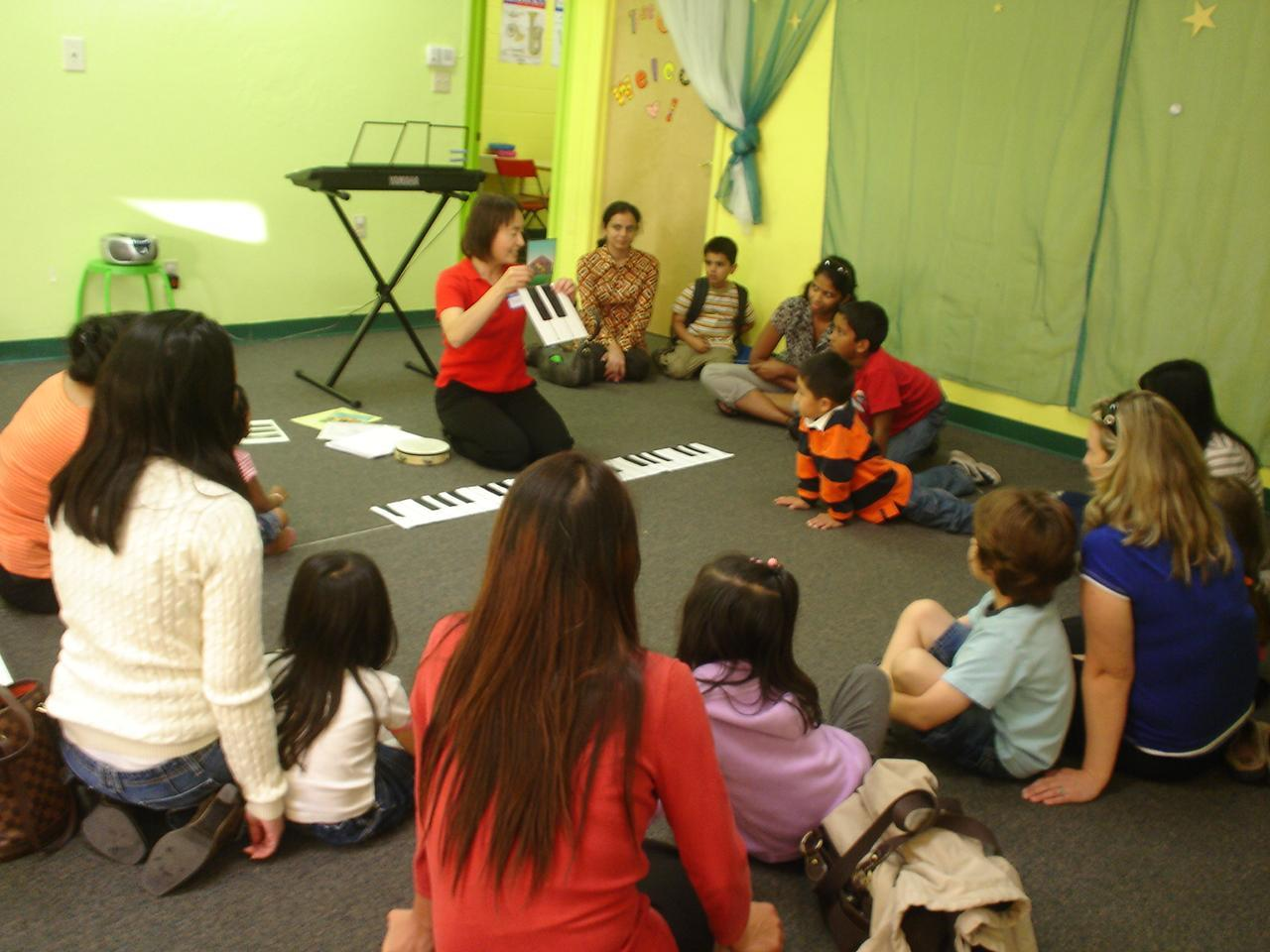 Early Childhood class with parents