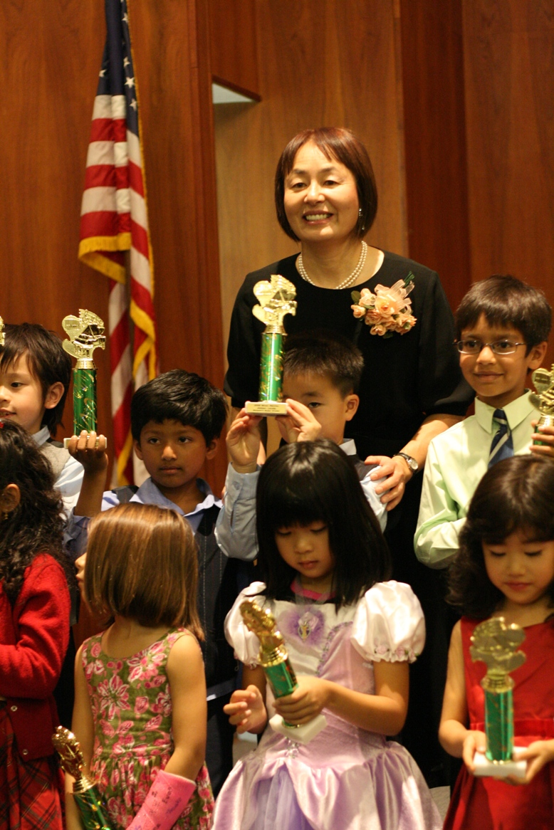 Masako with students